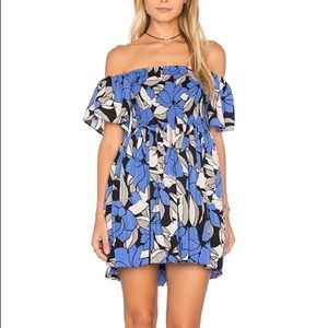 Free People Louise Smock Off-Shoulder Floral Dress